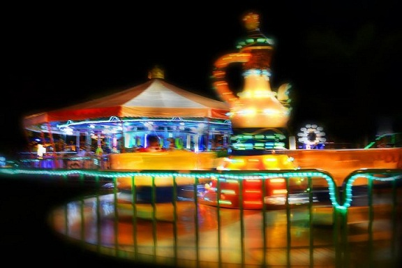 teacup ride, theme park, kiddie ride, background photo