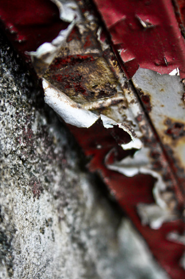 rust, paint, peel, red
