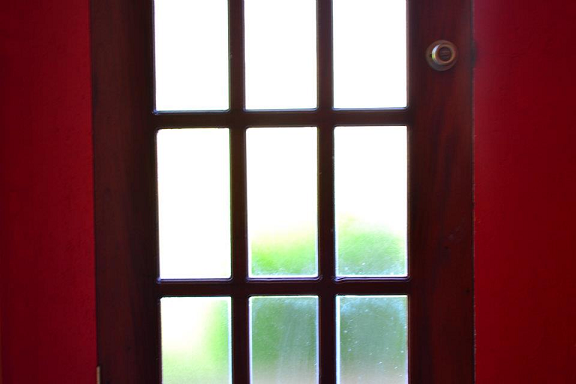 red door, walk out, perspective, goodbye