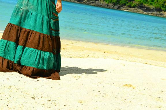 beach, shadow, sunlight, beach dress