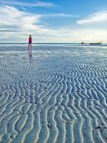 bantayan island, bantayan, cebu, beach, low tide, shore, sand