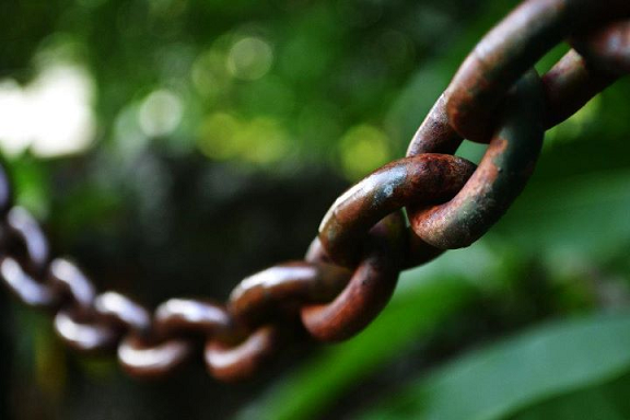 chains, rust, chain links, rusted steel