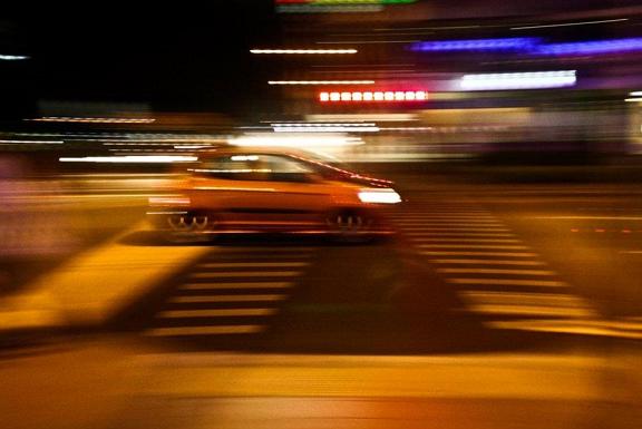 fast car, speed, blur, highway