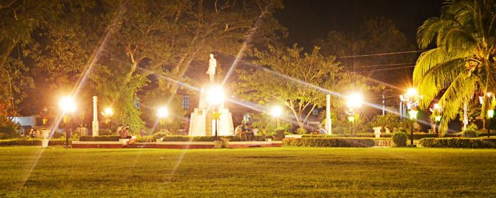 park, dapitan plaza, bright lights
