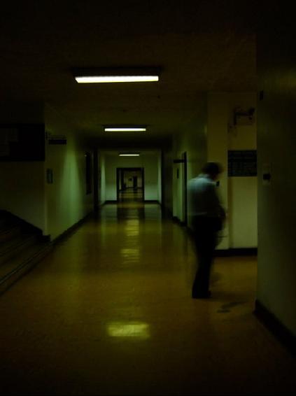 corridor, hospital, hallway, alone