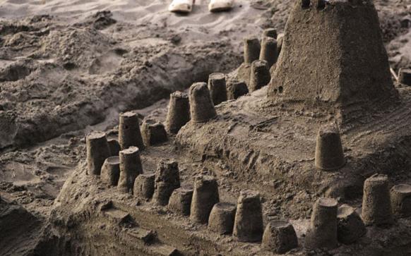 sandcastles, sand, beach, life