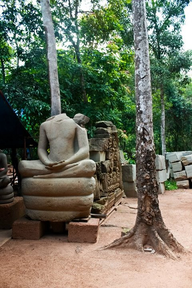 siem reap, cambodia, statue, relic