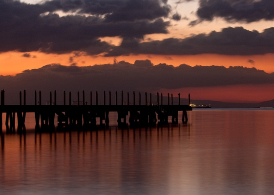 pier, sea, manila bay