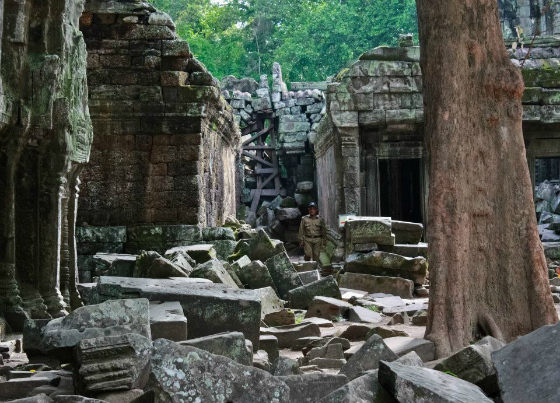 cambodia, siem reap, temple, ruins