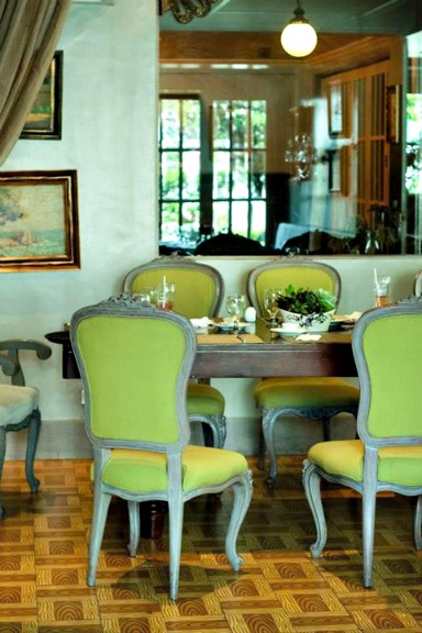 diningtable, meal, dining room, yellow